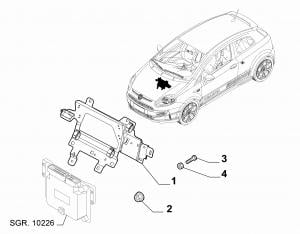 INJECTION ECU AND ENGINE HARNESS FASTENERS