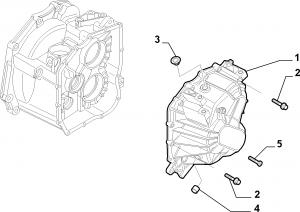 TRANSMISSION AND DIFFERENTIAL UNIT, CASING AND COVERS